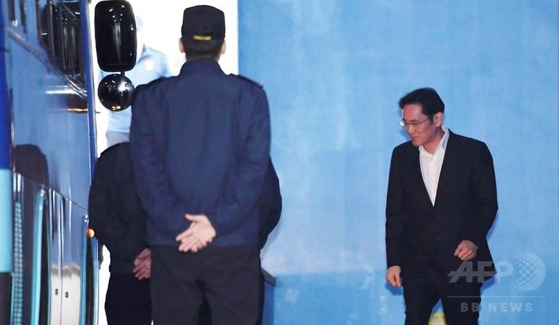 サムスン副会長に執行猶予付き判決、即日釈放