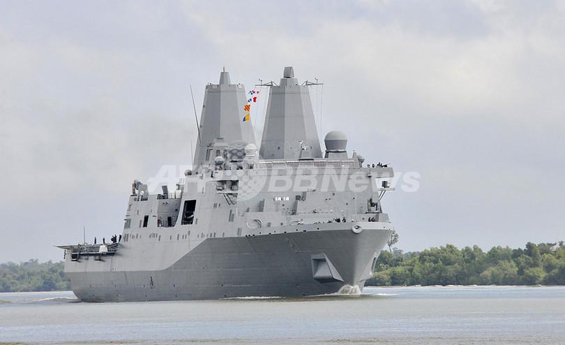 世界貿易センタービルの鋼材を使って建造、米海軍艦船が完成