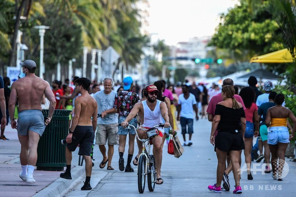 米フロリダ州、コロナ新規感染9585人 これまでで最多