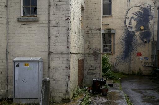 バンクシーのホームタウン、英ブリストルは大きなキャンバス