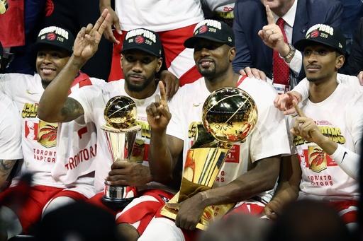 ラプターズがカナダ勢初のNBAファイナル制覇、MVPにレナード