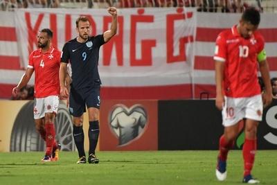 イングランドが4発でマルタ撃破、ケインが2得点の活躍