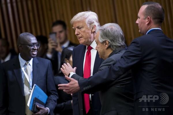 トランプ氏、国連デビューで 「官僚主義」を批判