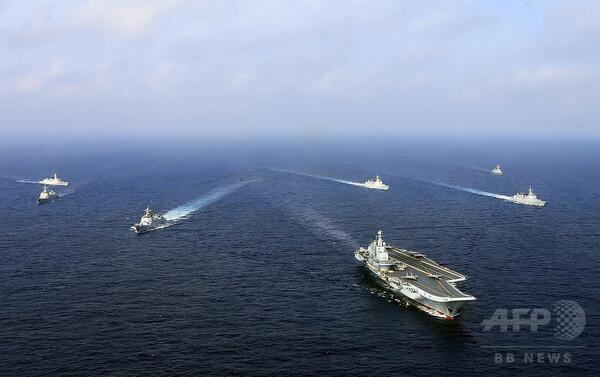 中国、東シナ海で実弾演習 空母「遼寧」も参加