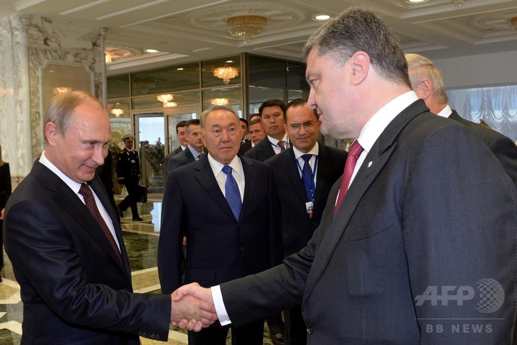 露・ウクライナ首脳会談、大きな成果なく終了