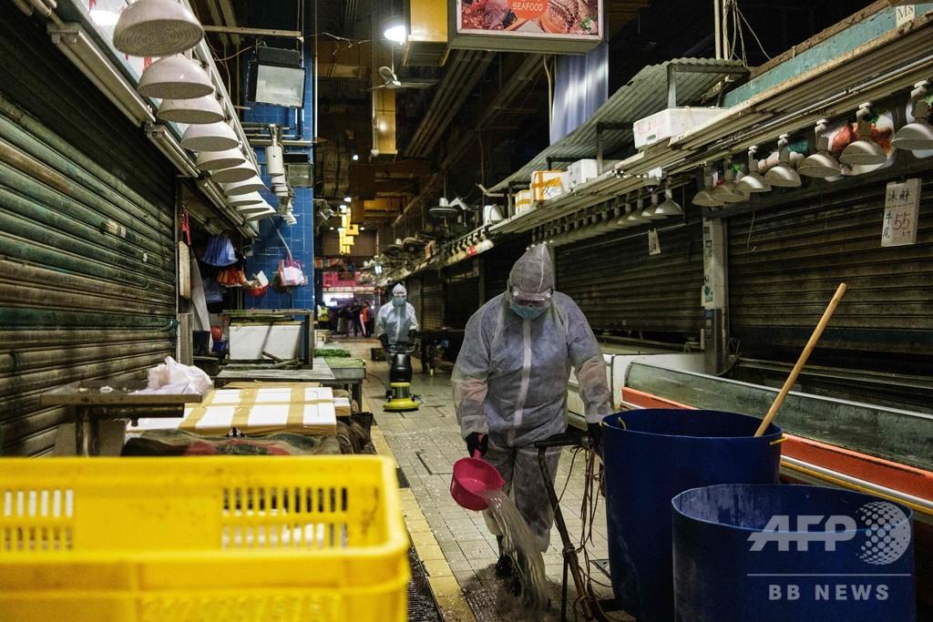 香港のコロナ新規感染者、最多の100人超で「危機的」状況と林鄭長官
