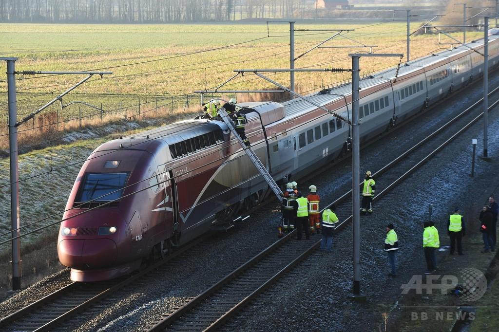ベルギー・フランス間の高速列車で発火、全線が一時運行停止に