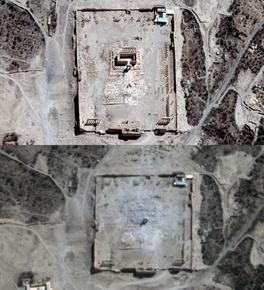 パルミラのベル神殿破壊、衛星写真で確認 国連