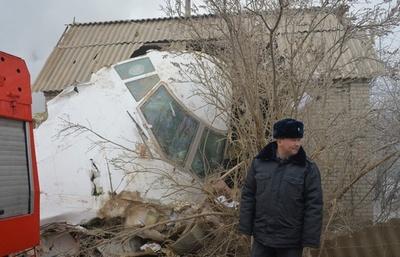 トルコの貨物機がキルギスで墜落、村を直撃し37人死亡 操縦ミスか