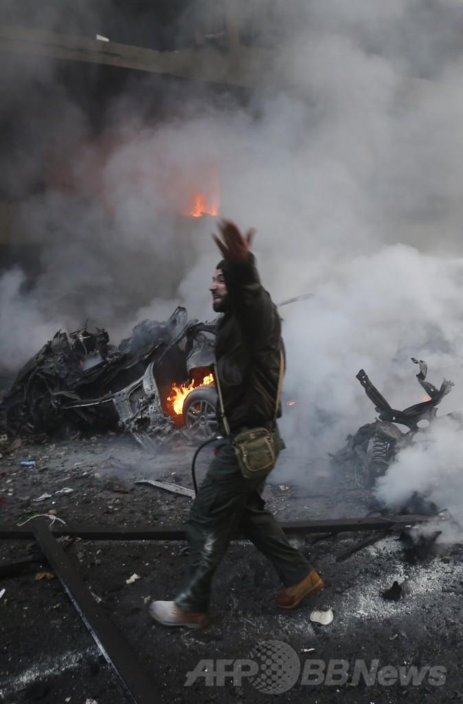 レバノン 爆発 死体