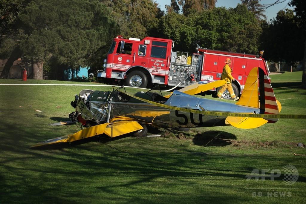 ハリソン・フォードさん重傷か、LA近郊で小型機墜落