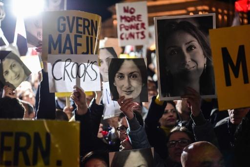 マルタ記者爆殺、首相が辞意表明 遺族は捜査要求