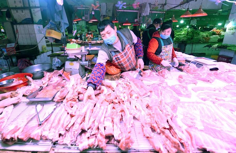 中国、5月の豚肉価格が下落
