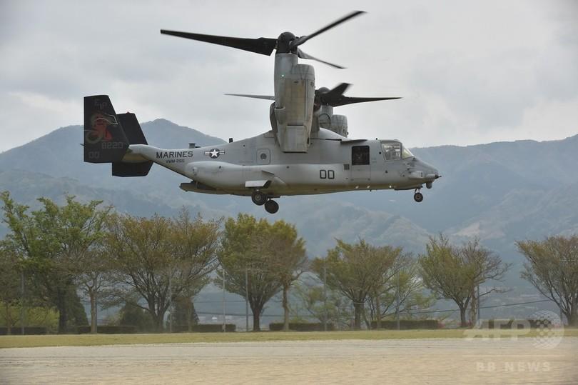 米海兵隊、全航空機の飛行停止を検討 オスプレイ墜落受け