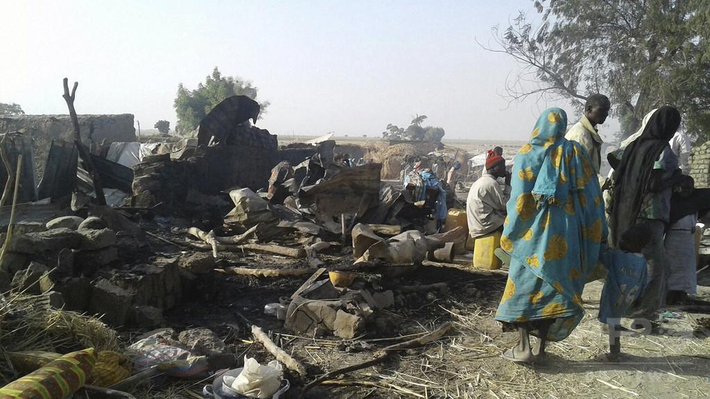 ナイジェリアの避難民キャンプ誤爆、犠牲者は少なくとも90人 MSF