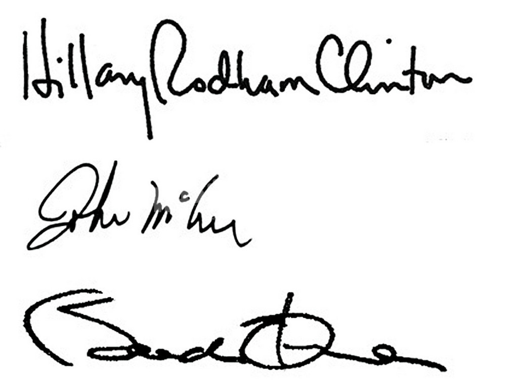 <08米大統領選挙> 「筆跡鑑定」で各候補を分析