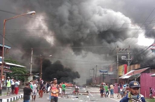 インドネシア領パプアで暴動、議会に放火も 独立派の拘束受け