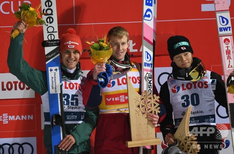クリモフが個人開幕戦で初V、小林陵が3位表彰台 ジャンプW杯