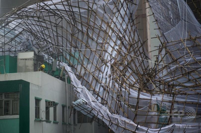 香港に台風4号が接近、空の便などに大きな乱れ 証取も休場に