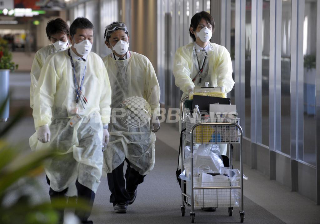 新型インフル感染疑いの5人は「陰性」、厚労省
