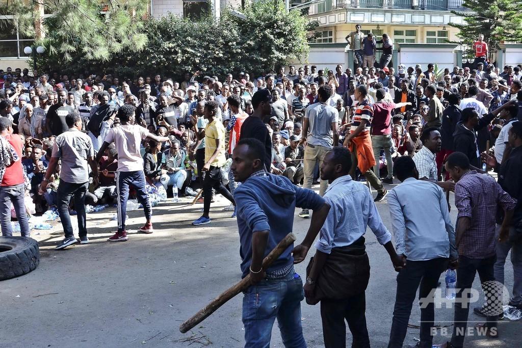 ノーベル平和賞のエチオピア首相に抗議デモ、16人死亡
