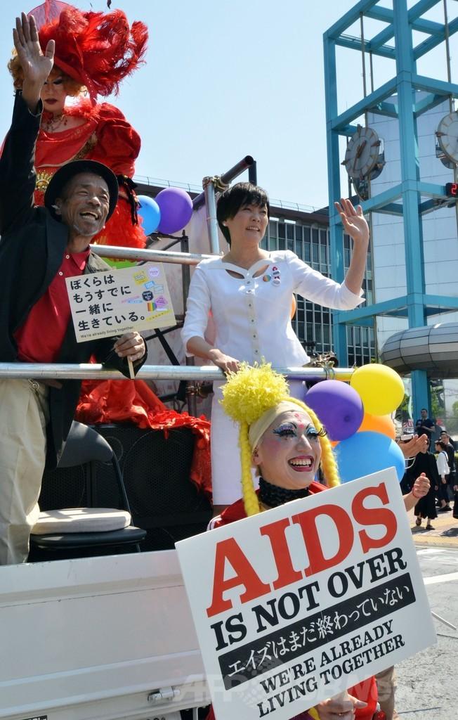 安倍首相夫人、都内のLGBTパレードに参加