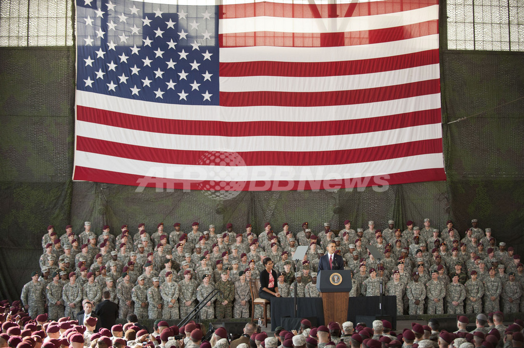 米大統領、イラク戦争終結を宣言 兵士らを称賛