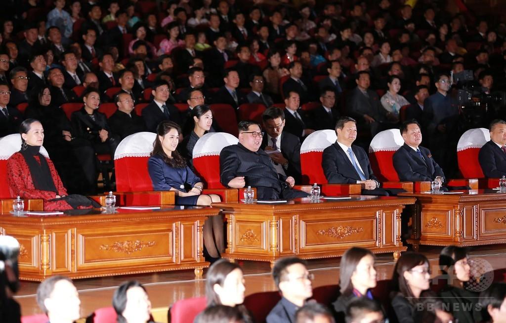 金正恩夫妻、中国芸術団のバレエ公演を鑑賞 平壌