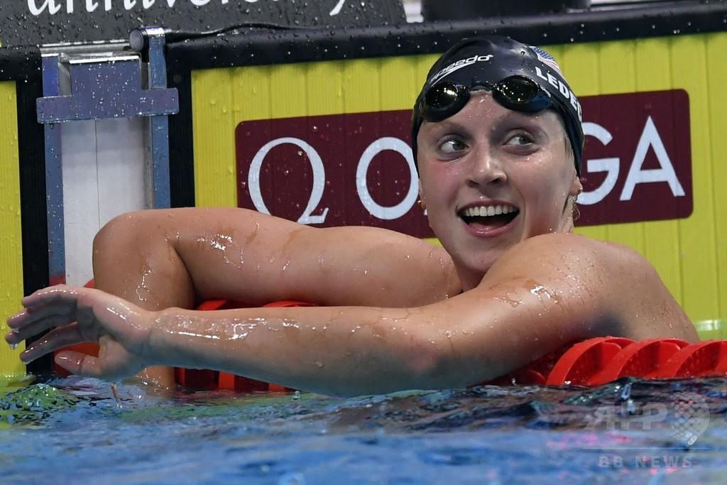 世界水泳でWR続出、レデッキーは女子最多12個目の金メダル