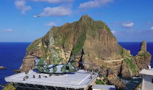 韓国軍、竹島周辺で定例の防衛訓練を開始