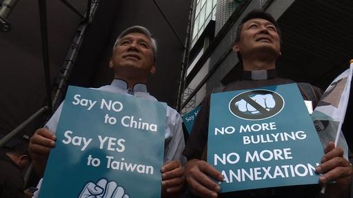 動画:台北で独立派が大規模集会、主催者発表で10万人超が参加
