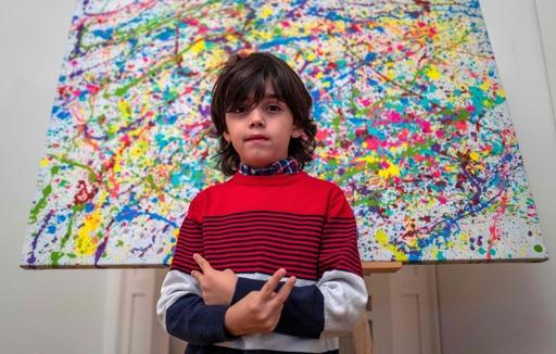 「子どもピカソ」がアート界揺るがす、ノイアー選手とコラボも ドイツ