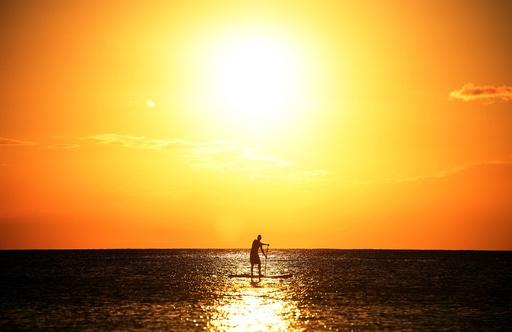 バルバドスに沈む美しい夕日