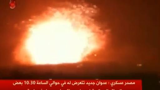 動画:シリア軍基地にミサイル攻撃、イラン戦闘員ら26人死亡
