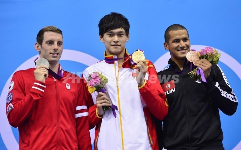 孫楊が世界新で金メダル、男子1500メートル自由形