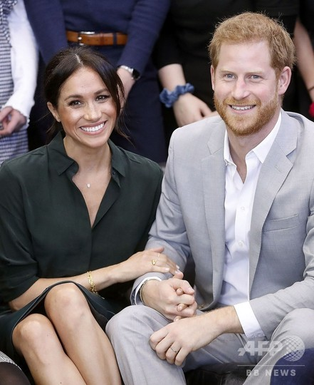 ヘンリー王子の妻メーガン妃、来年春に第一子出産 英王室発表