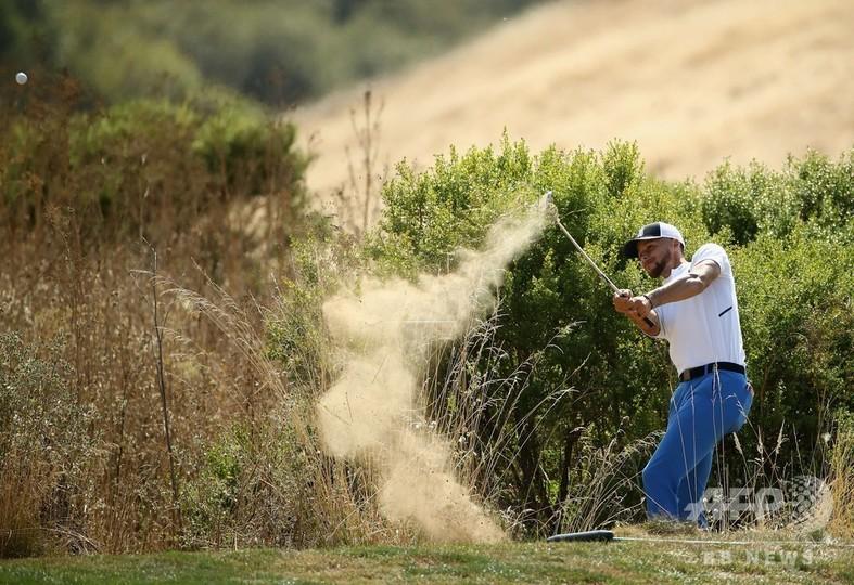 ウォリアーズのカリー、米下部ゴルフツアー最下位で予選落ち