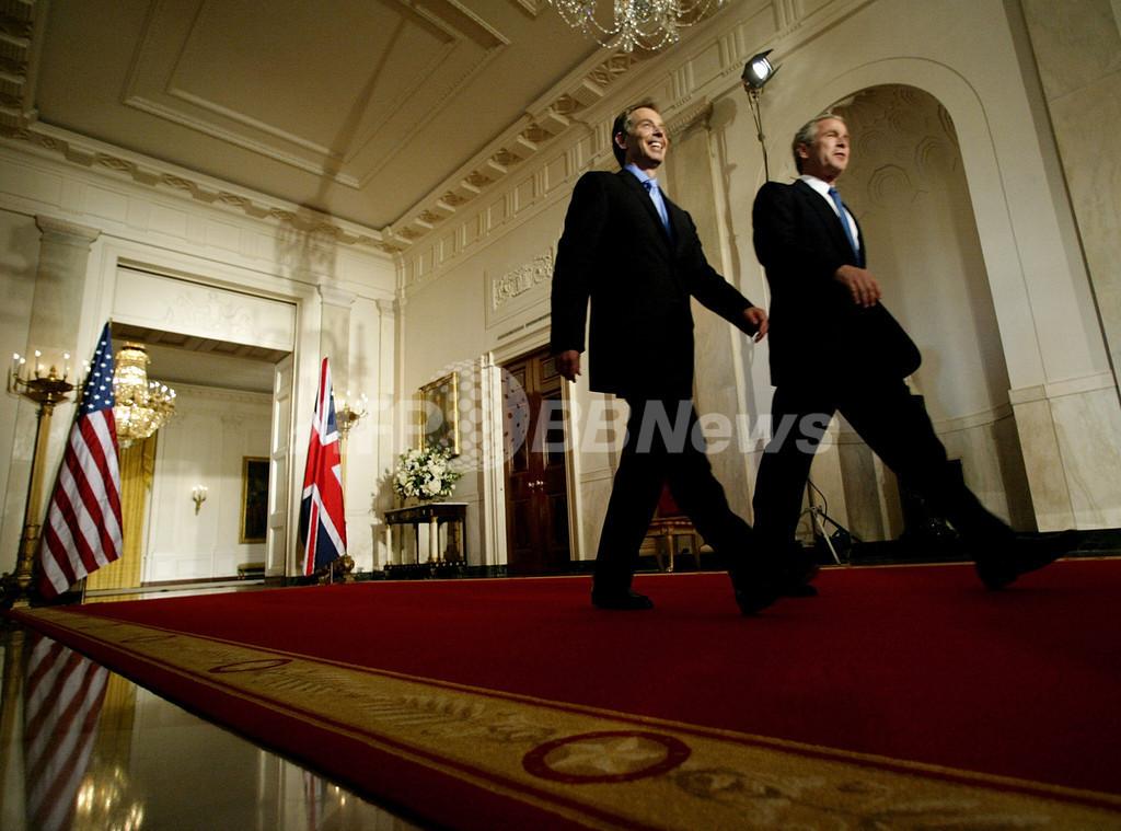 ブッシュ大統領、「ブレア首相とはプードル以上の仲」