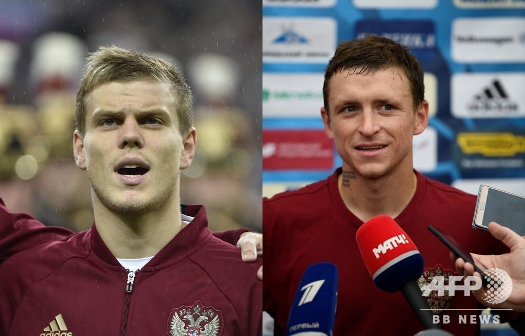 官僚暴行のロシアサッカー選手2人、裁判所から仮釈放認められる