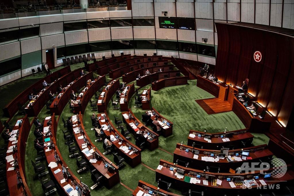 香港議会、中国国歌の侮辱禁止条例案を可決