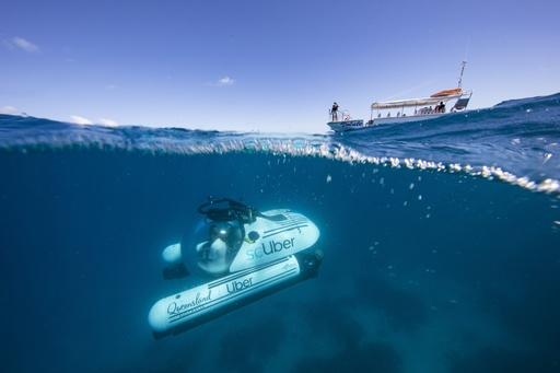 豪グレートバリアリーフで相乗り潜水艇ツアー、ウーバーが期間限定提供
