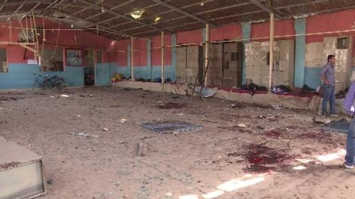 動画:レスリングクラブ爆破で20人死亡 治療受ける負傷者ら アフガン