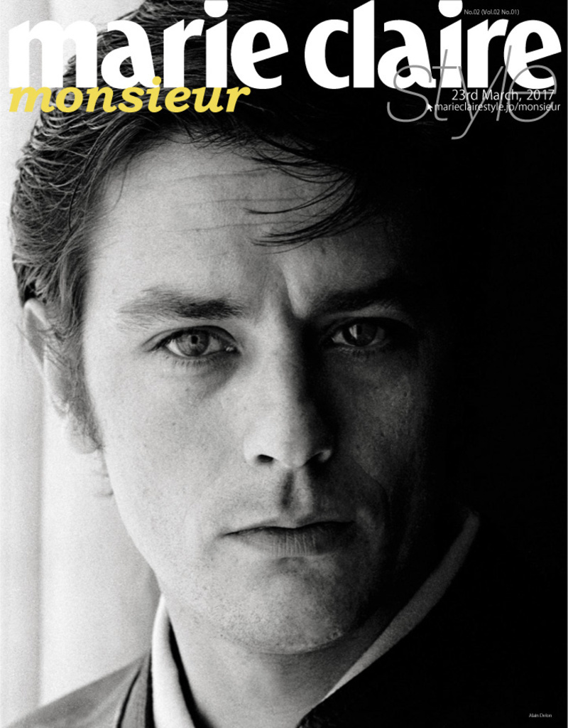 <Welcome to marie claire style monsieur>アラン・ドロン