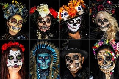 「死者の日」控えたメキシコ、骸骨の貴婦人ずらり