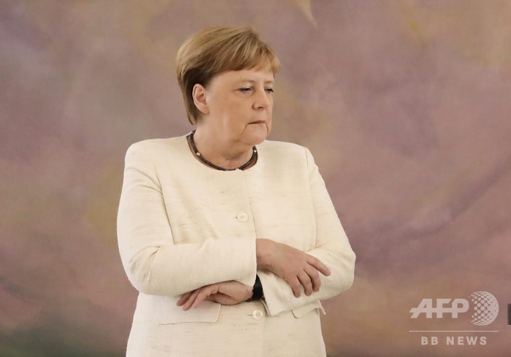 メルケル独首相、また震え止まらず G20目前に健康不安
