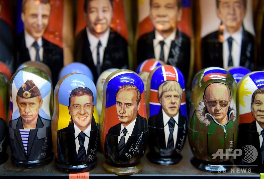 権力掌握20年、プーチングッズは今も人気 ロシア