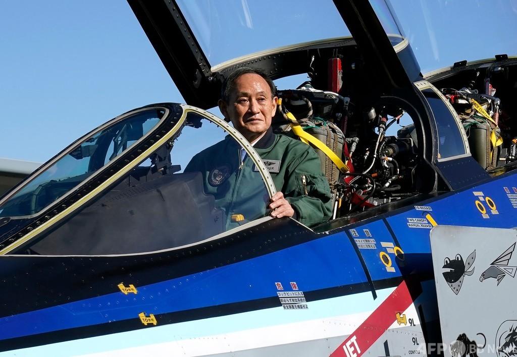 菅首相、航空観閲式に出席 空自入間基地