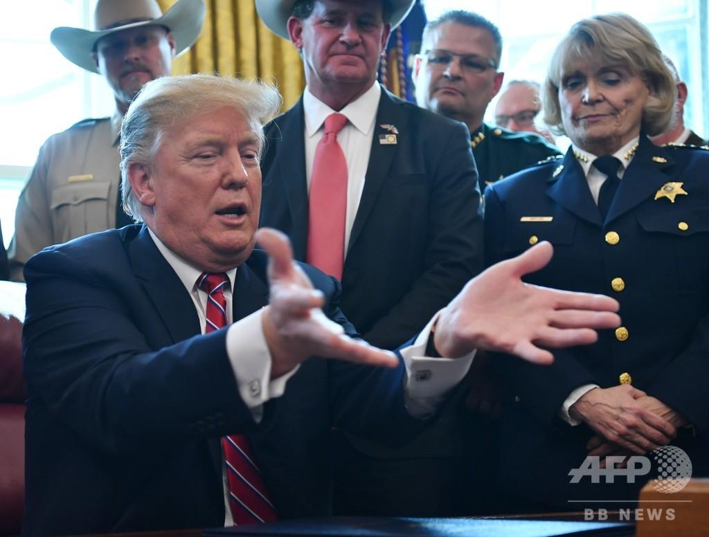 トランプ氏が初の拒否権 国境の壁建設費を確保