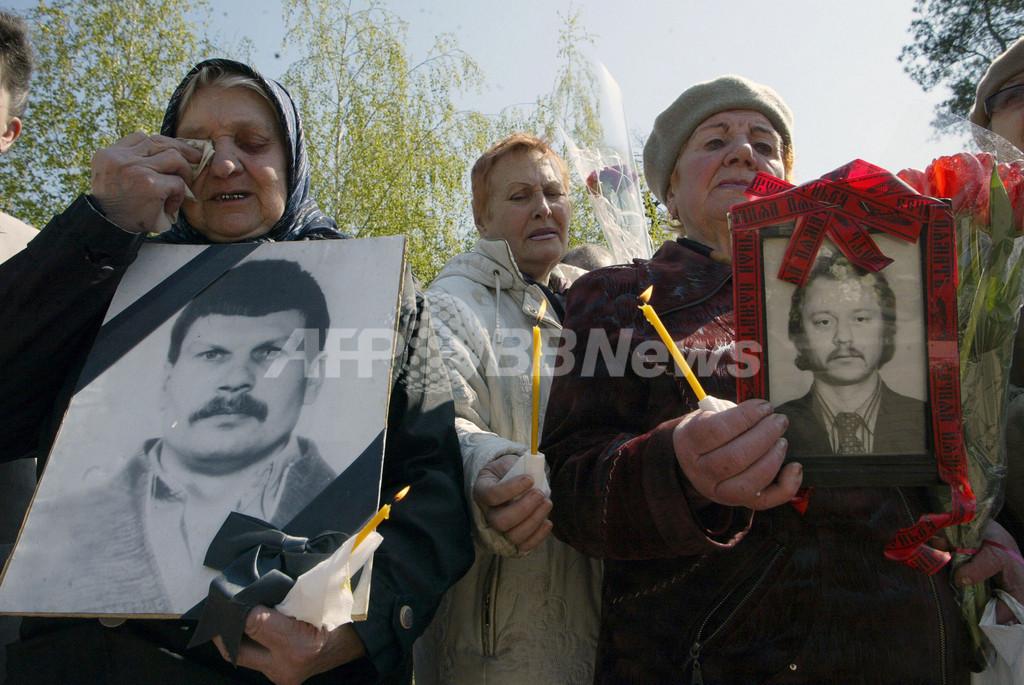 チェルノブイリ原発事故から23年、ウクライナで追悼式典