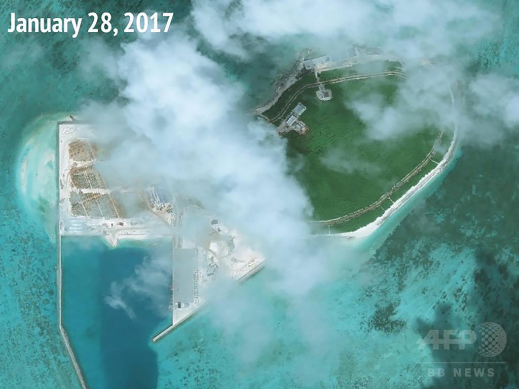 中国が開発進める西沙諸島・ツリー島の変貌、5年前との比較写真